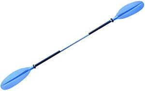 MORGEN SKY パドル カヤックパドル ダブルプレード アルミパドル 2ピース分割 kayak用 親子揃い ツーリング フィッシング ボートオール アルミ合金 軽量 収納便利 BR01 (青-大人220cm)