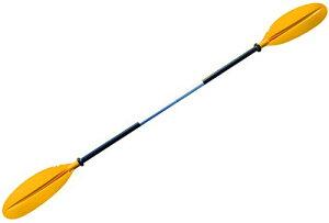 MORGEN SKY パドル カヤックパドル ダブルプレード アルミパドル 2ピース分割 kayak用 親子揃い ツーリング フィッシング ボートオール アルミ合金 軽量 収納便利 BR01 (オレンジ-大人220cm)