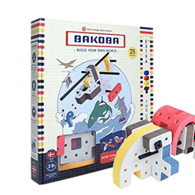 BAKOBA バコバ 男 3歳 誕生日プレゼント 男の子 女 おもちゃ 知育玩具 プレゼント 女の子 5歳 子供 室内 4歳 6歳 小学生 積み木 知育 つみき 7歳 ブロック 遊び 幼児 お風呂 三歳 子ども キッズ (BOX1)