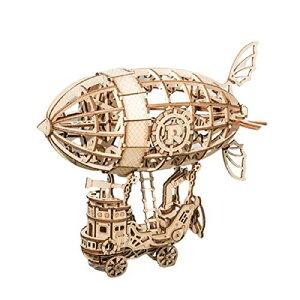 haruju 立体パズル 飛行船 木製 クラフト おもちゃ 模型
