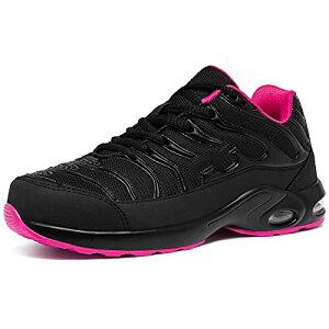 [DYKHMILY] 安全靴 メンズ レディース 軽量 エアクッション 作業靴 衝撃吸収 あんぜん靴 鋼先芯 踏抜き防止 おしゃれ 通気 スニーカー セーフティーシューズ(24.0cmフロックスピンクD91825)