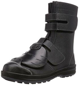 [シモン] 安全靴 長編上 JIS規格 甲プロテクター付 耐滑 耐油 快適 軽量 クッション ブーツ マジック WS38D-6 黒 25.0 cm