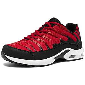 [DYKHMILY] 安全靴 メンズ レディース 軽量 エアクッション 作業靴 衝撃吸収 あんぜん靴 鋼先芯 踏抜き防止 おしゃれ 通気 スニーカー セーフティーシューズ(25.5cmティーベリーD91825)