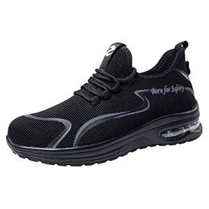 [ziitop] 安全靴 作業靴 メンズ スニ一カ一 あんぜん靴 鋼先芯 軽量 セーフティーシューズ 通気 防刺 耐滑 衝撃吸収 ワーク シューズ 24.0cm~28.0cm