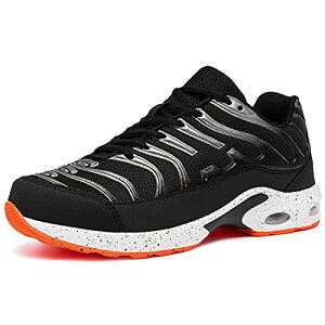 [DYKHMILY] 安全靴 メンズ レディース 軽量 エアクッション 作業靴 衝撃吸収 あんぜん靴 鋼先芯 踏抜き防止 おしゃれ 通気 スニーカー セーフティーシューズ(24.0cmブラックスライバーD91825)