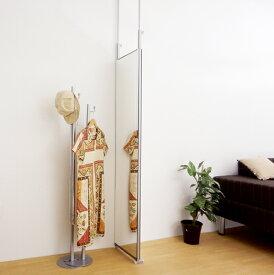 【送料無料・日本製】 スタンドミラー 両面タイプ 鏡 ミラー 姿見 つっぱりミラー 幅40cm 高さ180cm 大型ミラー つっぱり ツッパリ 隙間 すっきり 全身
