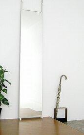 スタンドミラー 鏡 ミラー 姿見 つっぱりミラー 幅40cm 高さ180cm 【送料無料・日本製】 大型ミラー つっぱり ツッパリ 隙間 すっきり 全身