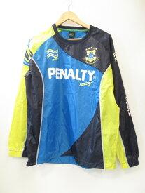 【中古】PENALTY ペナルティ ハイスピステスーツ PO5320 スポーツ ブルー × イエロー メンズ サイズL