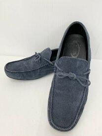 【中古】トッズ TOD'S スエード ローファー メンズ靴 モカシン 無地 ネイビー 201-shoes2