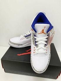 【中古】ナイキ NIKE AIR JORDAN3 RETRO KNICKS 136064-148 メンズ靴 スニーカー ロゴ ホワイト 201-shoes8