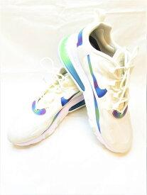 【中古】NIKE AIR MAX 270 React ナイキ エア マックス 270 リアクト Bubble Pack White White/Multi ホワイト マルチカラー オーロラ グラデーション 白 スニーカー 靴 シューズ サイズ27.5cm メンズ CT5064-100 (SH-494)