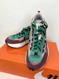【中古】ナイキ NIKE sacai VAPOR WAFFLE サカイ ヴェイパー ワッフル DD3035-200 メンズ靴 スニーカー ロゴ ワインレッド 201-shoes15