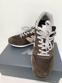 【中古】ニューバランス new balance 99Xシリーズ ピッグスキンスエード メッシュアッパー CM996 SHB メンズ靴 スニーカー ロゴ ブラウン 201-shoes16
