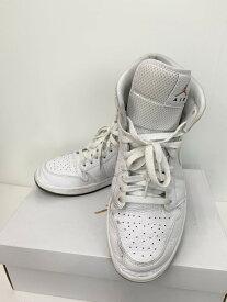 【中古】ナイキ NIKE WMNS AIR JORDAN1 MID エア ジョーダン1 ミッド CI9100-100 レディース靴 スニーカー ロゴ ホワイト 201-shoes19