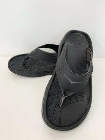 【中古】ホカ HOKA one one ORA RECOVERY FLIP オラ リカバリー フリップ メンズ靴 サンダル その他 無地 ブラック 201-shoes26