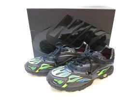 【中古】NIKE ZM STRK SPECTRUM PLS / SUPREME black/black ナイキ ズーム ストリーク スペクトラム プラス シュプリーム ブラック 黒 グリーン グリーン 緑 ユニセックスシューズ スニーカー 靴 シューズ 箱付き 替え紐付き コラボ メンズ サイズ27cm AQ1279-001 (SH-512)