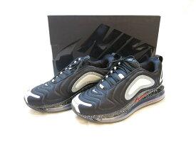 【中古】NIKE AIR MAX 720 UNDERCOVER BLACK/UNIVERSITY RED 2019 ナイキ エア マックス 720 アンダーカバー コラボ ブラック 黒 箱付き スニーカー 靴 シューズ メンズ サイズ26.5cm CN2408-001 (SH-513)