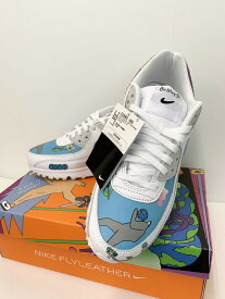 【中古】ナイキ NIKE フライレザー エア マックス 90 QS カジュアルシューズ CZ3992-900 メンズ靴 スニーカー 総柄 ホワイト 201-shoes28