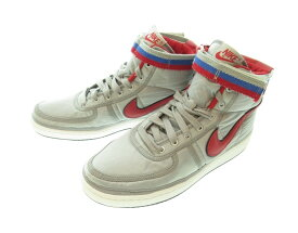 【中古】ナイキ NIKE VANDAL HIGH SUPREME QS METALLIC SILVER/UNIVERSITY RED ナイキ バンダル ハイ サプリーム クイックストライク メタリックシルバー/ユニバーシティーレッド AH8652-001 メンズ靴 スニーカー シルバー 29.5サイズ 101-shoes6