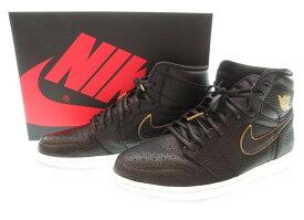 【中古】ナイキ NIKE AIR JORDAN 1 RETRO HIGH OG BLACK/METALLIC GOLD-SUMMIT WHITE ナイキ エアジョーダン 1 レトロ ハイ オリジナル シティー オブ フライト 黒 金 555088-031 メンズ靴 スニーカー ブラック 29サイズ 101-shoes11