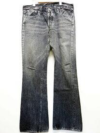 【中古】FULL COUNT フルカウント ボタンフライ フレアカット ブーツカット ブラック デニム パンツ