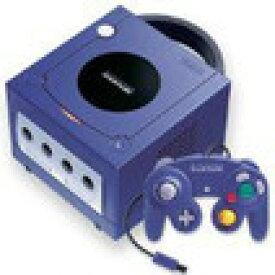 【送料無料】【中古】GC ゲームキューブ NINTENDO GAMECUBE 本体 バイオレット コントローラー×2個セット