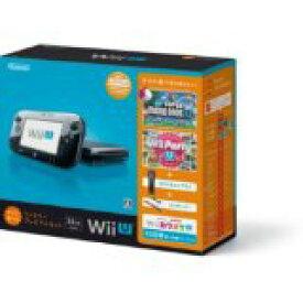 【送料無料】【中古】Wii U すぐに遊べるファミリープレミアムセット(クロ) 黒 任天堂 本体(マリオU、パーティーU内蔵)(箱説付き)