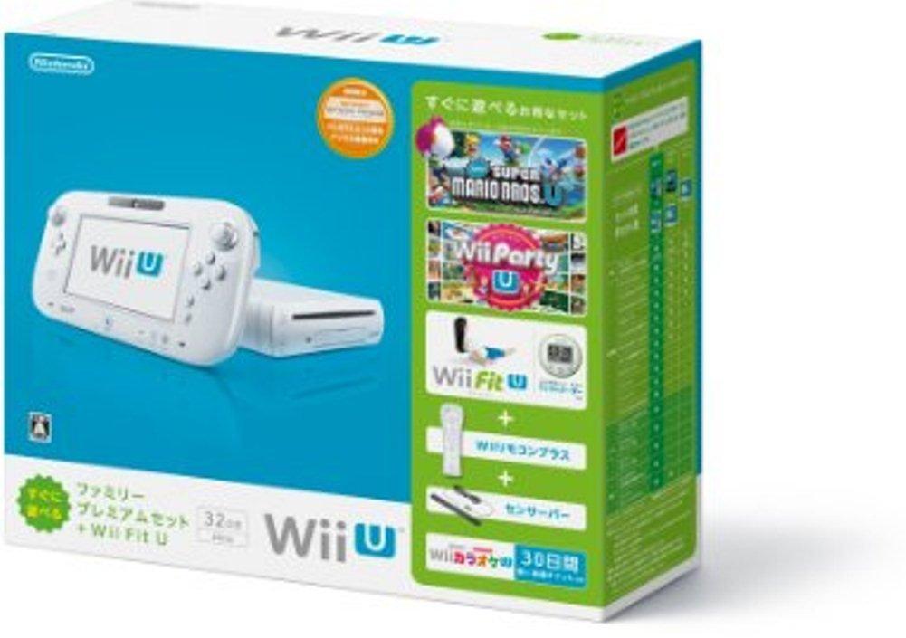 【送料無料】【中古】Wii U すぐに遊べるファミリープレミアムセット+Wii Fit U(シロ)(バランスWiiボード非同梱)(箱付き)