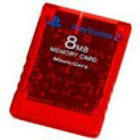 【送料無料】【中古】PS2 プレイステーション2 Playstation 2 専用メモリーカード (8MB) クリムゾンレッド 本体 ソニー純正品 プレステ2