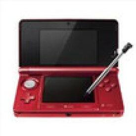 【訳あり】【送料無料】【中古】3DS ニンテンドー3DS フレアレッド 本体 任天堂(箱説付き)