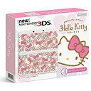 【送料無料】【中古】3DS New ニンテンドー3DS きせかえプレートパック ハローキティ 本体