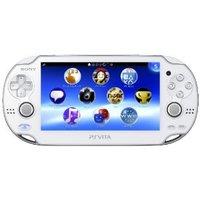 【送料無料】【中古】PlayStation Vita Wi‐Fiモデル クリスタル・ホワイト (PCH-1000 ZA02) 本体 ヴィータ