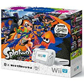 【送料無料】【中古】Wii U プレミアムセット shiro (WUP-S-WAFC) シロ 白 任天堂 本体(スプラトゥーン内蔵)(箱説付き)
