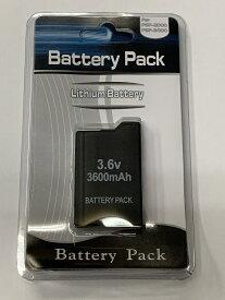 【送料無料】【新品】PSP バッテリーパック(3600mAh)(PSP-2000/3000シリーズ専用) 本体 大容量 互換品