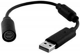 【送料無料】【新品】Xbox 360 USB変換ケーブル クイックリリースコネクタ コントローラー接続用 ブラック