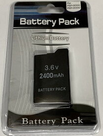【送料無料】【新品】PSP バッテリーパック(2400mAh)(PSP-2000/3000シリーズ専用) 本体 互換品