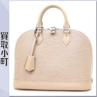 Louis Vuitton M41155 Al Mar PM エピデュンヌシルバー metal fittings icon bag handbag Boston bag beige new model LV ALMA PM EPI DUNE