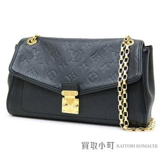 Take Louis Vuitton M48931 Saint-Germain PM モノグラムアンプラントノワールチェーンショルダーバッグ slant; all leather black leather LV SAINT GERMAIN PM MONOGRAM EMPREINTE NOIR