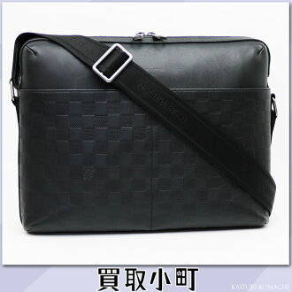 Louis Vuitton N41201 calypso MM ダミエ アンフィニオニキスメッセンジャーバッグメンズショルダーバッグ black LV Calypso MM Damier Infini Onyx