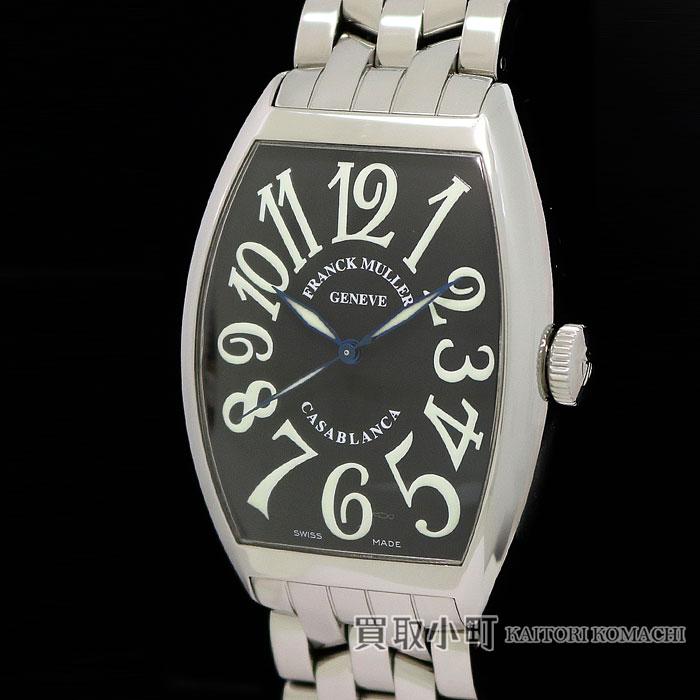【美品】フランクミュラー 【FRANCK MULLER】 6850CASAMC カサブランカ オートマティック ブラック メンズウォッチ ステンレス SSブレス トノウカーベックス 自動巻き 男性用腕時計 6850MCCASA CASABLANCA CURVEX MENS WATCH【SAランク】【中古】