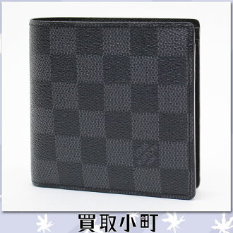 路易威登(LOUIS VUITTON)N62664 porutofoiyu·马可NM damie·gurafitto对开钱包人钱包钱包路易威登LV MARCO WALLET%OFF