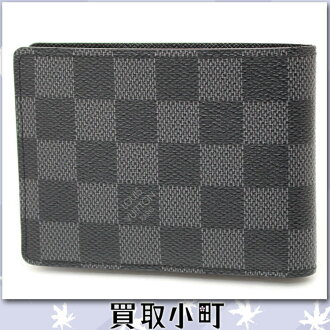 Louis Vuitton (LOUIS VUITTON) N62663 ポルトフォイユ ミュルティプルダミエ グラフィット folio wallet men wallet billfold card case Louis Vuitton LV MULTIPLE WALLET %OFF