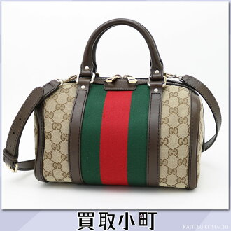 Take Gucci vintage Web original GG canvas Boston bag Small beige dark brown 2WAY shoulder bag slant; handbag GG fabric 269876 KQW5G 9791 VINTAGE WEB GG BOSTON BAG SM