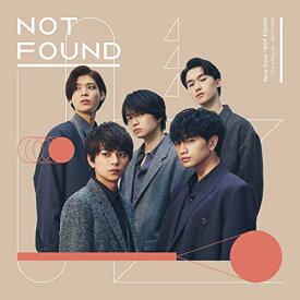 【中古】NOT FOUND(通常盤)/Sexy Zone