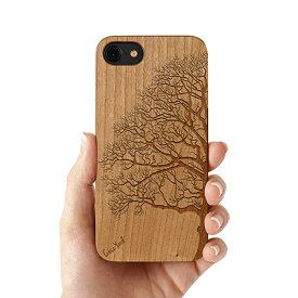 Case Yard【 ウッド iPhoneケース / Half Tree ハーフツリー / iPhone6 iPhone7 iPhone7plus / チェリーウッド 】