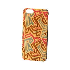 Case Yard【 ウッド iPhoneケース / African Pattern アフリカンパターン / iPhone6 iPhone7 iPhone7plus / チェリーウッド 】