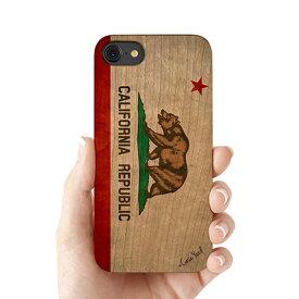 Case Yard【 ウッド iPhoneケース / California State Flag カリフォルニア ステイト フラッグ / iPhone6 iPhone7 iPhone7plus / チェリーウッド 】