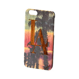 Case Yard【 ウッド iPhoneケース / LA Palm Trees LA パーム ツリー / iPhone6 iPhone7 iPhone7plus / チェリーウッド 】