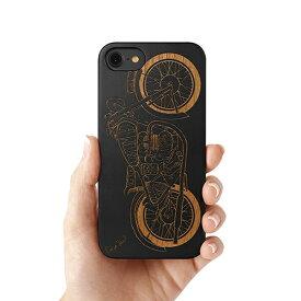 Case Yard【 ウッド iPhoneケース / Vintage Motorcycle ヴィンテージ モーターサイクル / iPhone6 iPhone7 iPhone7plus / ブラックウッド 】
