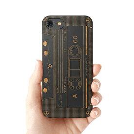 Case Yard【 ウッド iPhoneケース / Cassette カセット / iPhone6 iPhone7 iPhone7plus / ブラックウッド 】